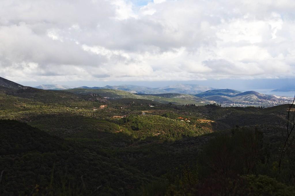 """Blick in die Tiefebene im Süden von Samos. Aufnahme kurz vor der Umfahrung des Berg """"Martini"""" (oder war es Ouzo?)"""